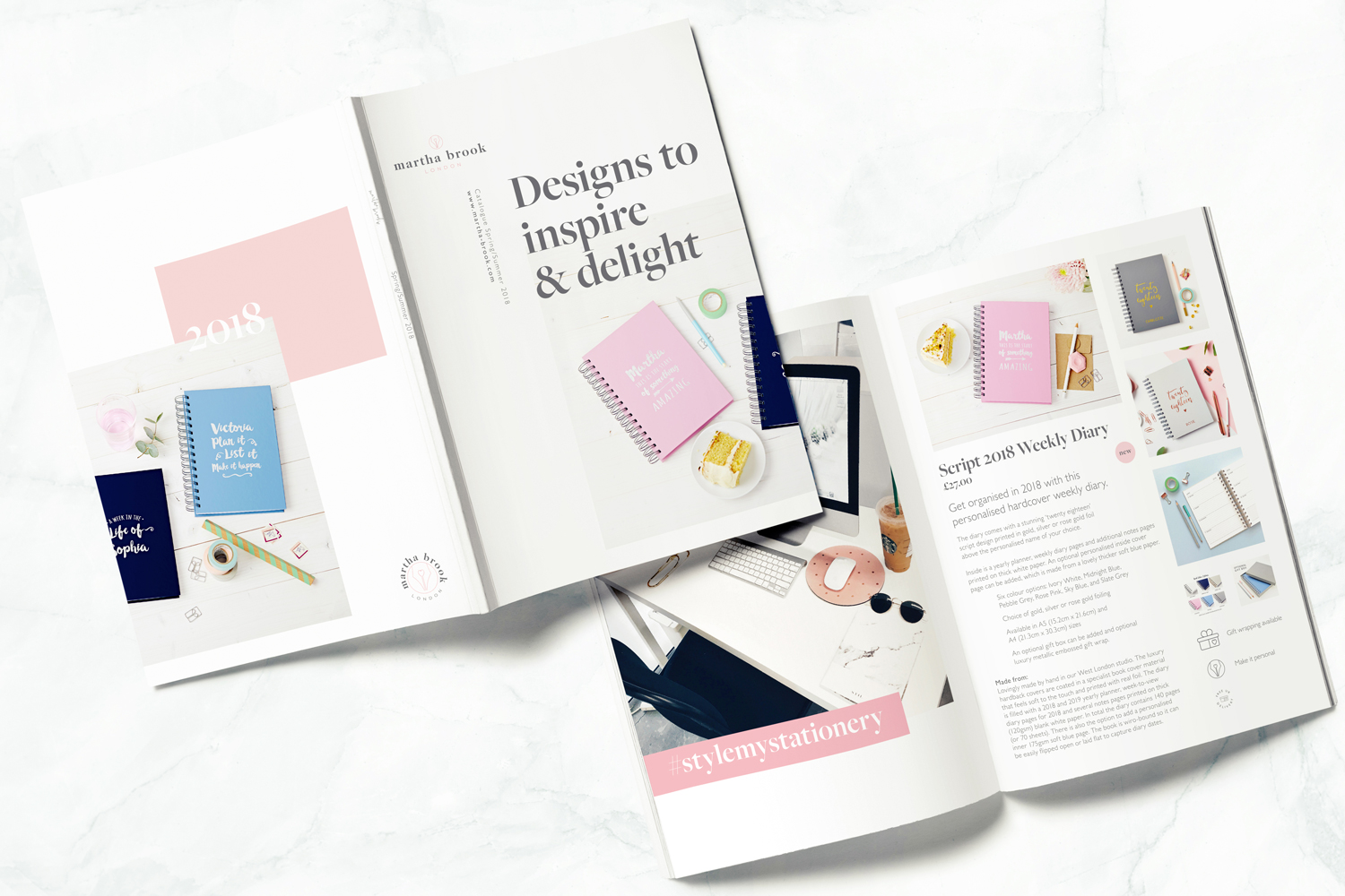Martha Brook London, logo design and brand styling by Ditto Creative, boutique branding agency, Kent