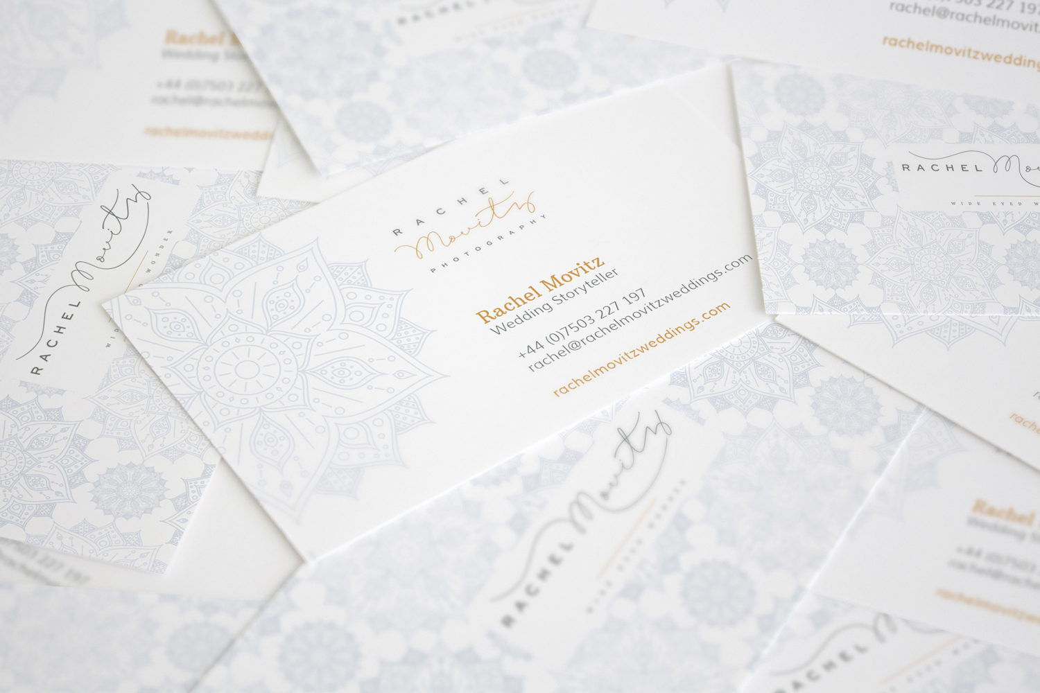 Brand identity and logo design for Rachel Movitz, wedding photographer Oxforshire, brand styling by Ditto Creative