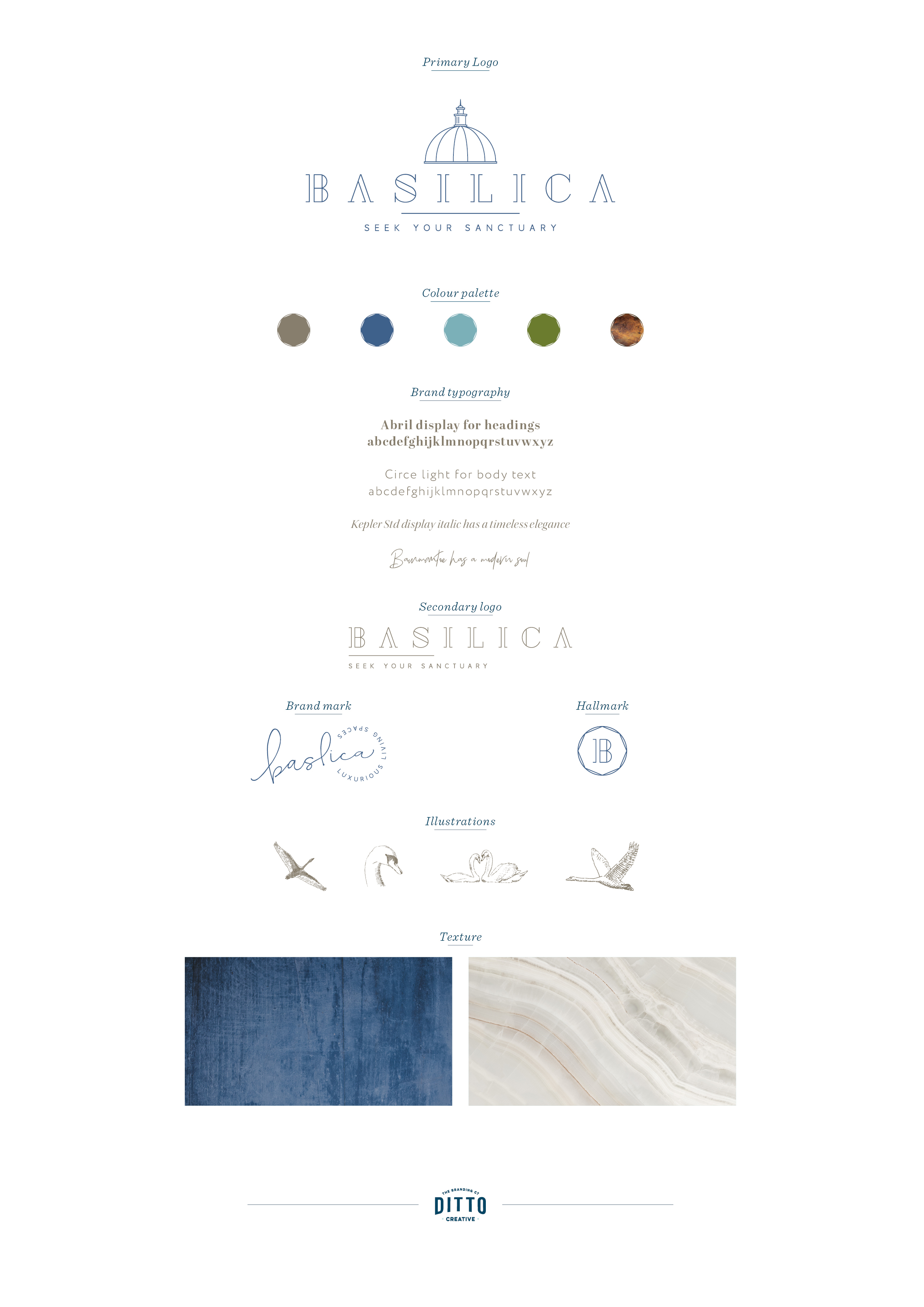 Basilica, brand identity and logo design by Ditto Creative, branding agency Kent