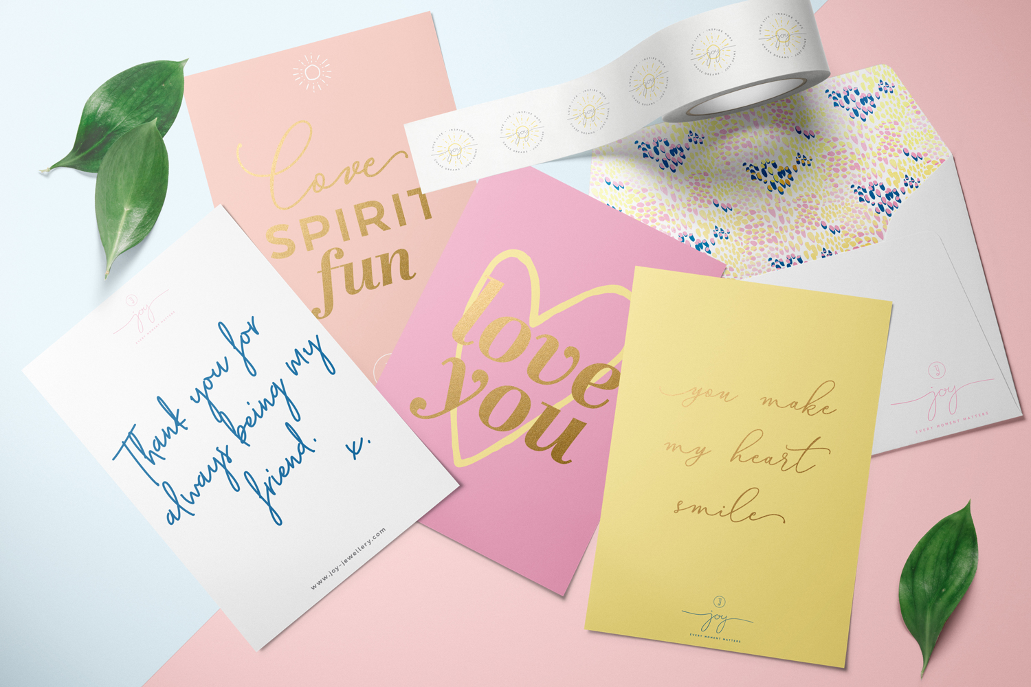 Joy logo design and brand identity by Ditto Creative, brand consultants and branding agency in Kent