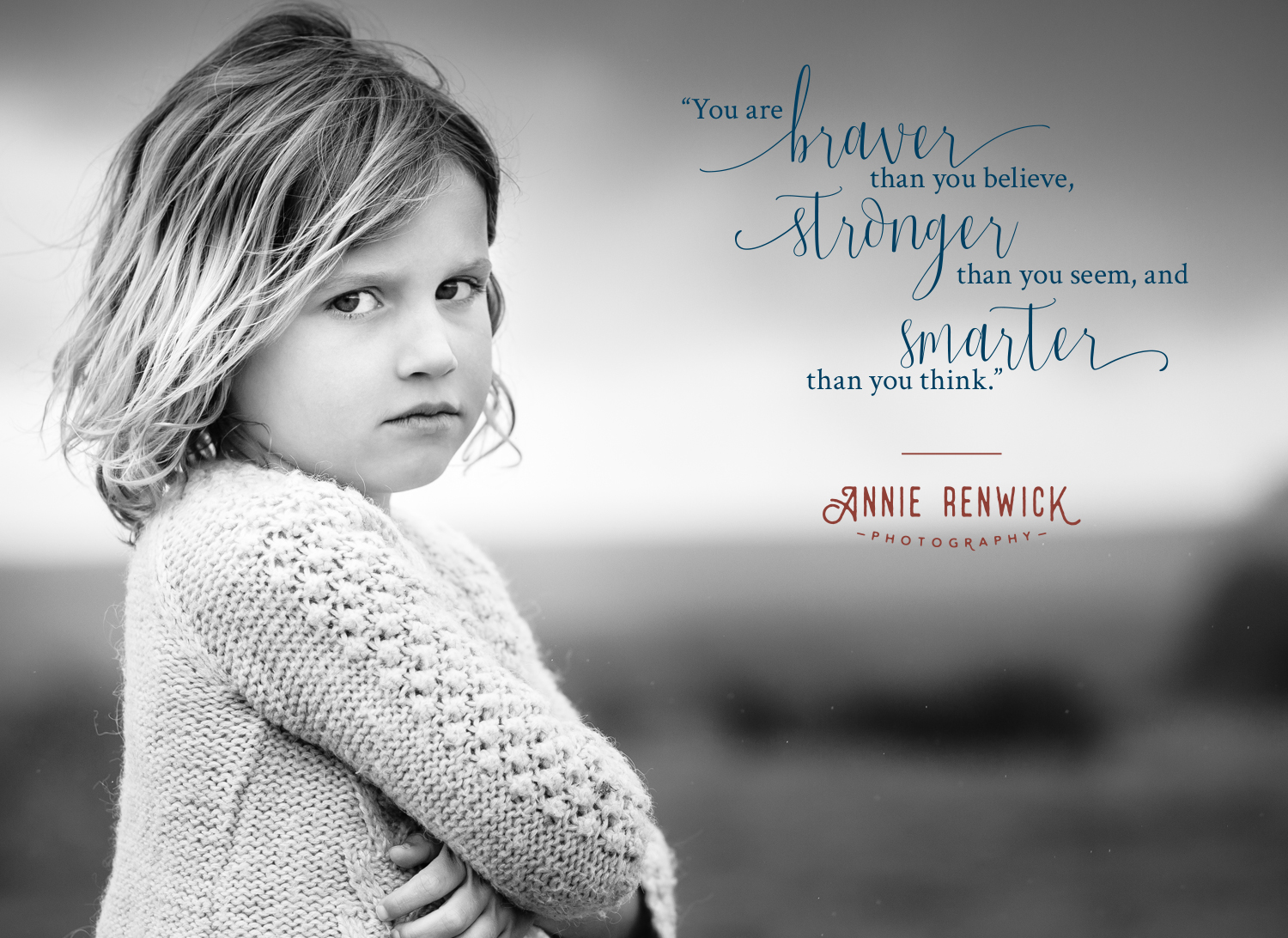 Brand identity, logo design and squarespace web design for Annie Renwick, fine art childrens photographer in Devon. Brand created by Ditto Creative, boutique branding agency in Kent specialising in branding for small businesses