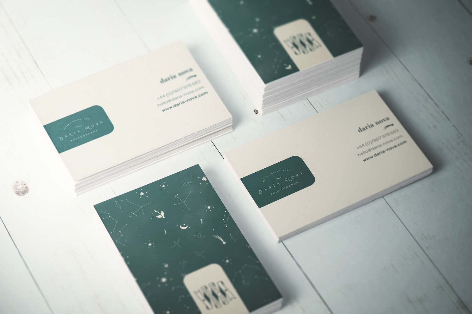 Brand identity, logo design and web design for Daria Nova, alternative wedding photographer in London. Brand created by Ditto Creative, branding agency in Kent
