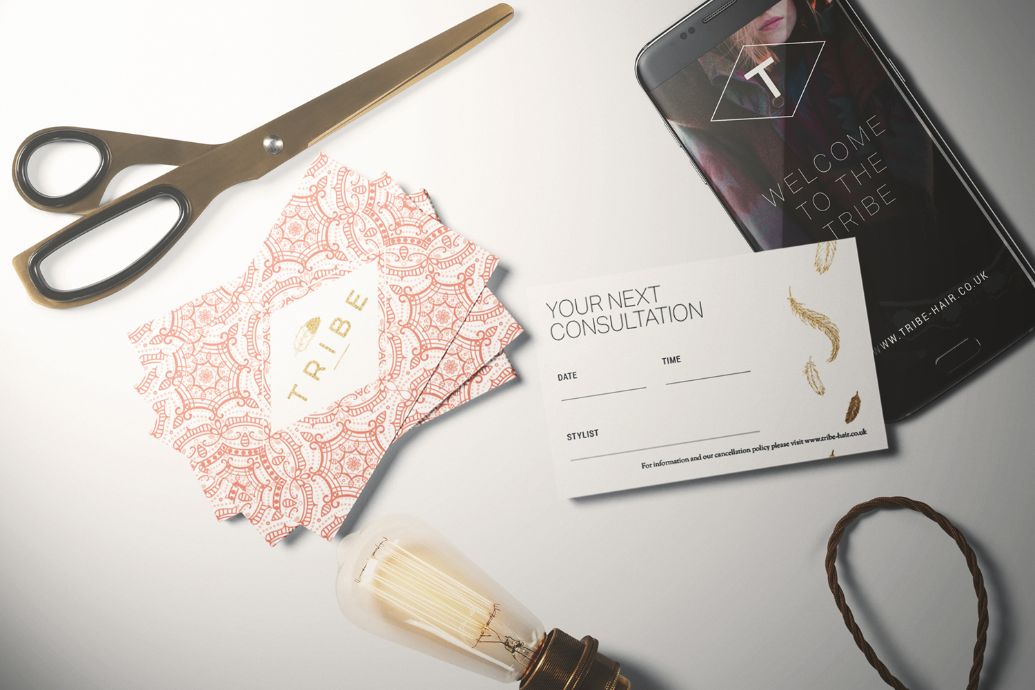 Tribe Salons logo design and brand identity by Ditto Creative, branding agency Kent