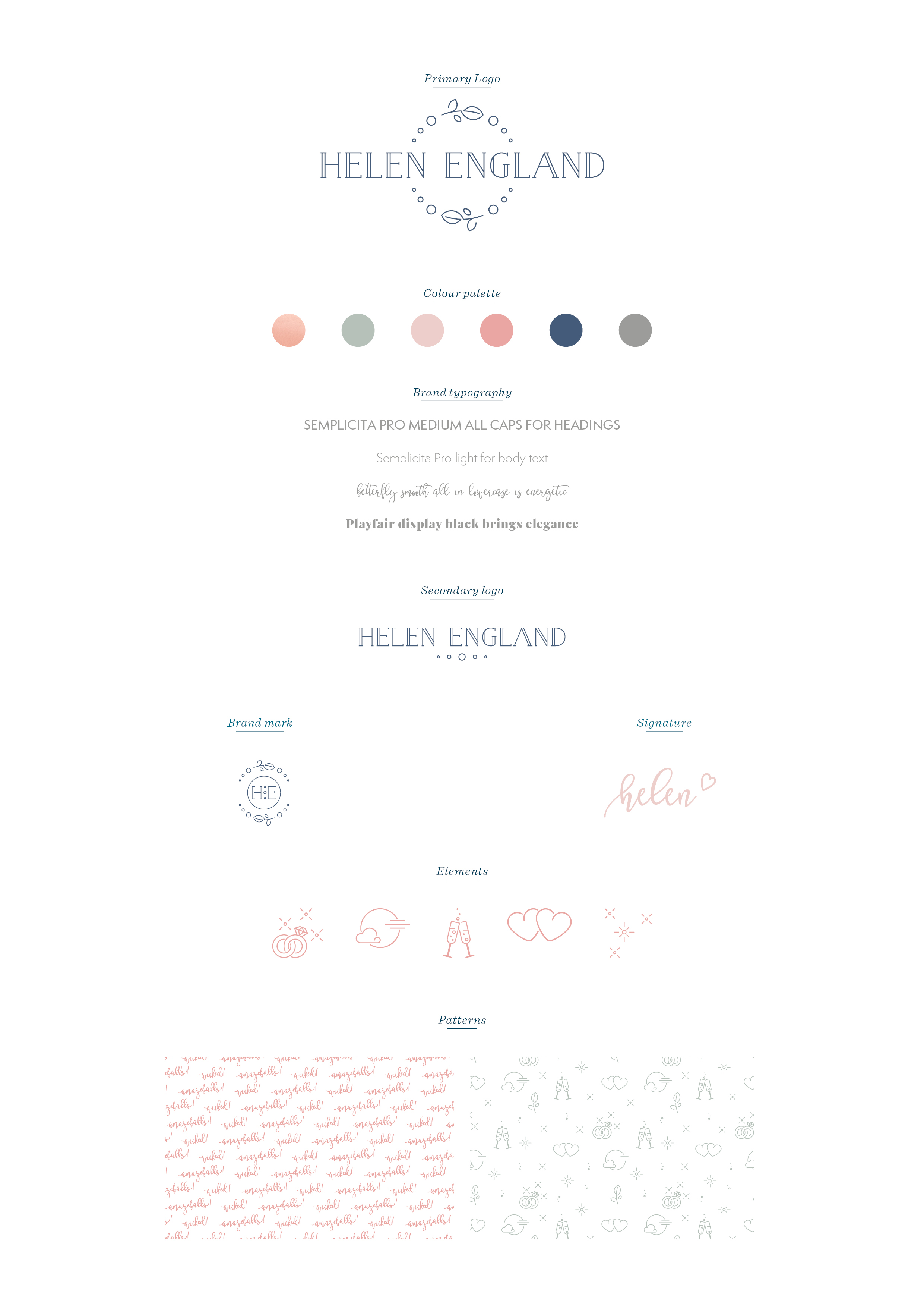 Helen England photography logo design and brand identity by Ditto Creative, branding agency Kent