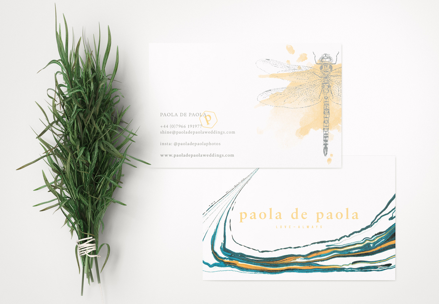 Paola De Paola Wedding Photography, logo design and brand identity by Ditto Creative, boutique branding agency Kent