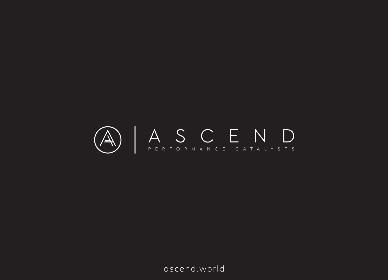Ascend logo design and brand identity by Ditto Creative, branding agency Kent