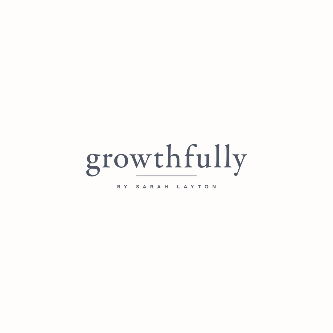 Growthfully logo design by Ditto Creative | boutique branding agency in Kent for small businesses