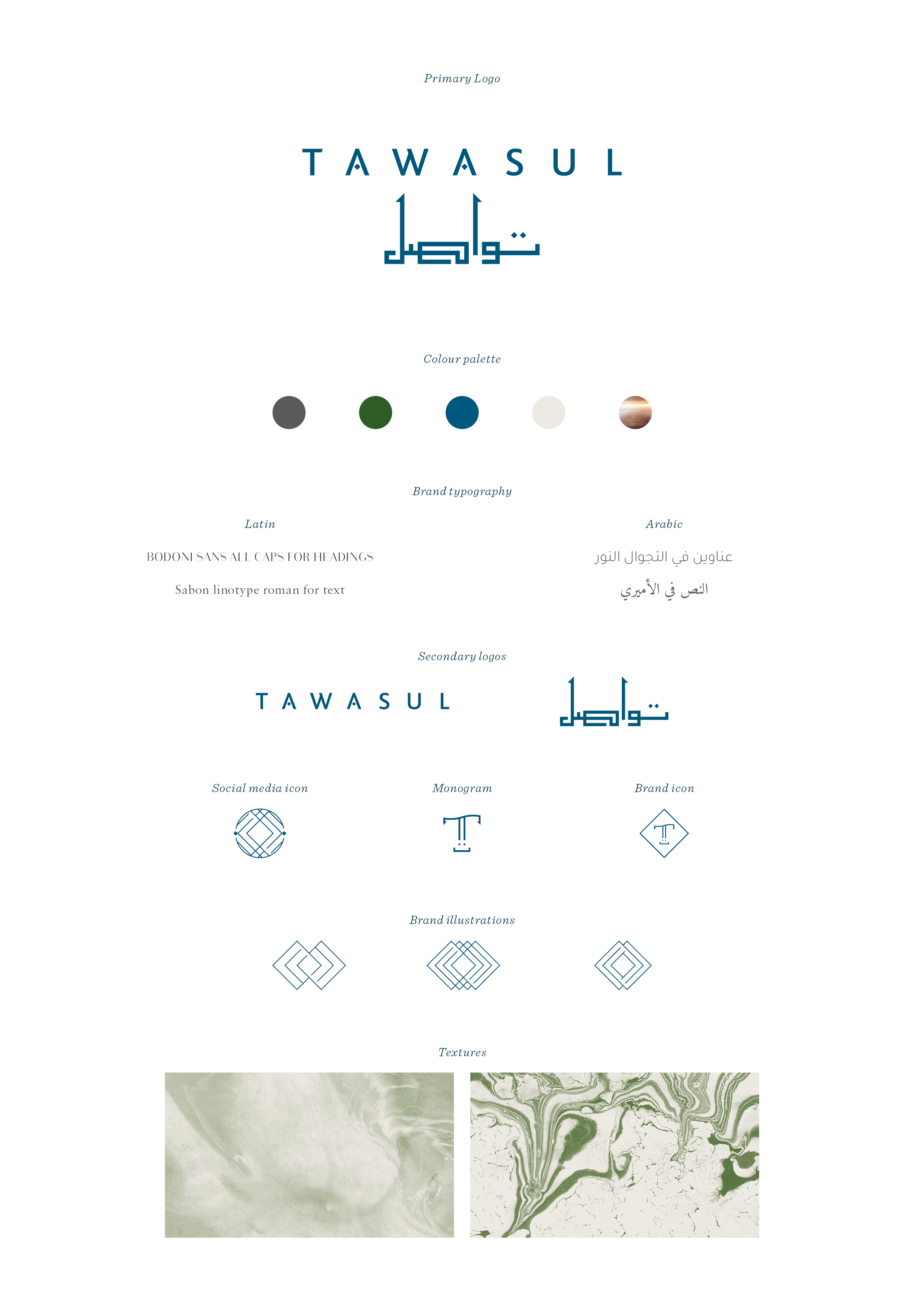 Tawasul branding by Ditto creative, boutique branding agency in Kent