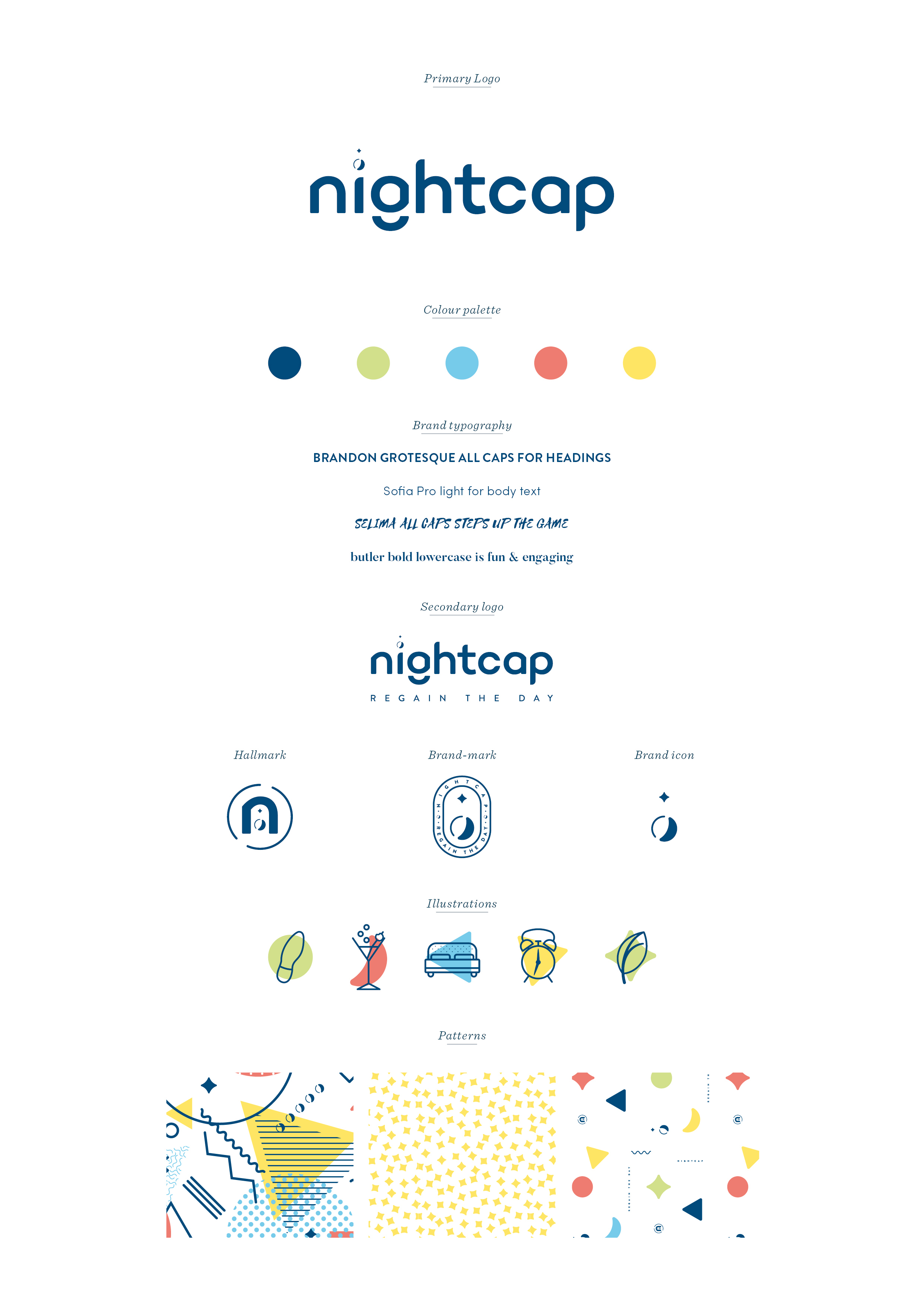 Nightcap brand design by Ditto creative, boutique branding agency in kent