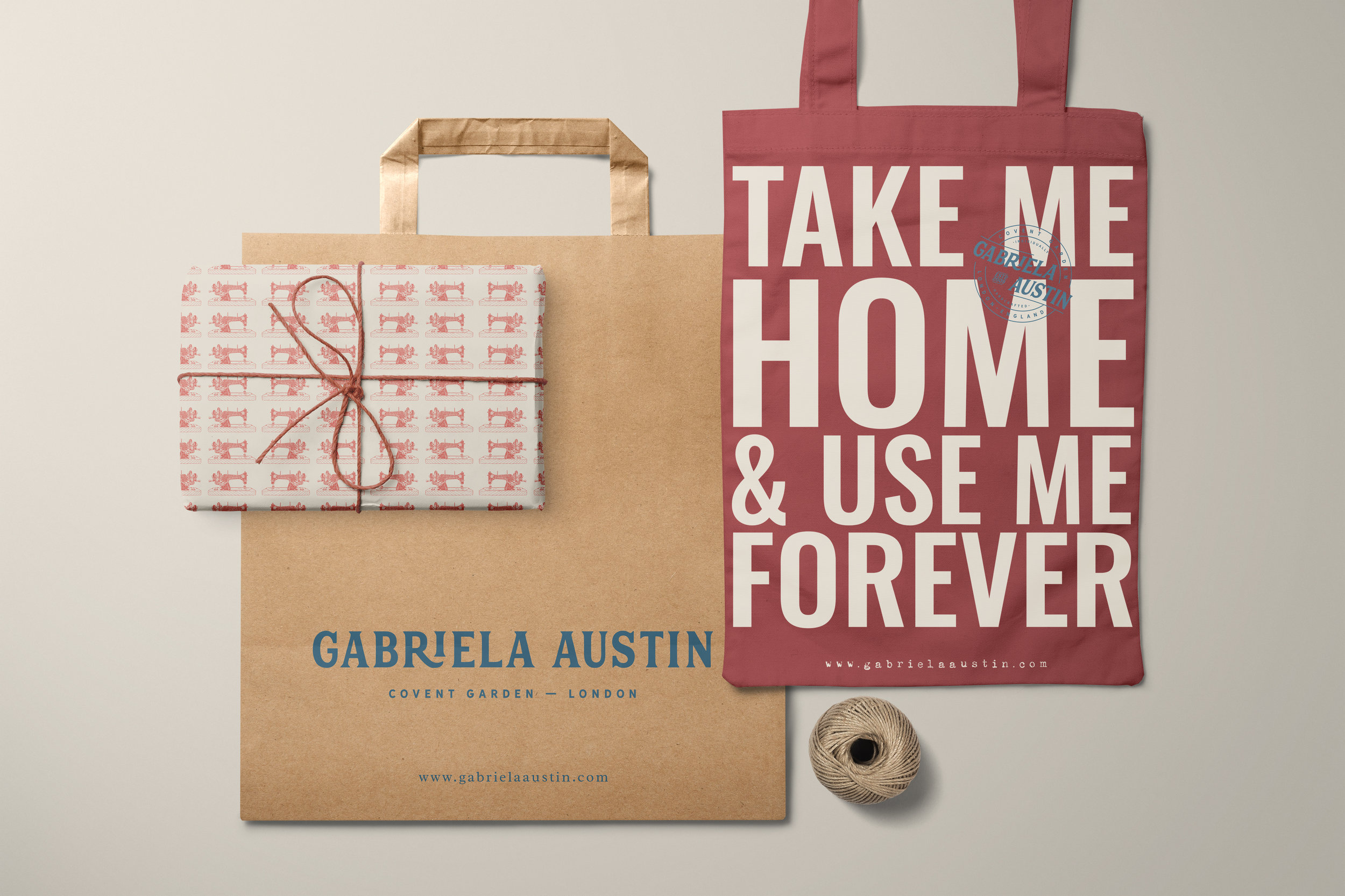 brand identity and logo design for Gabriela Austin, small business branding by Ditto Creative, boutique branding agency in Kent