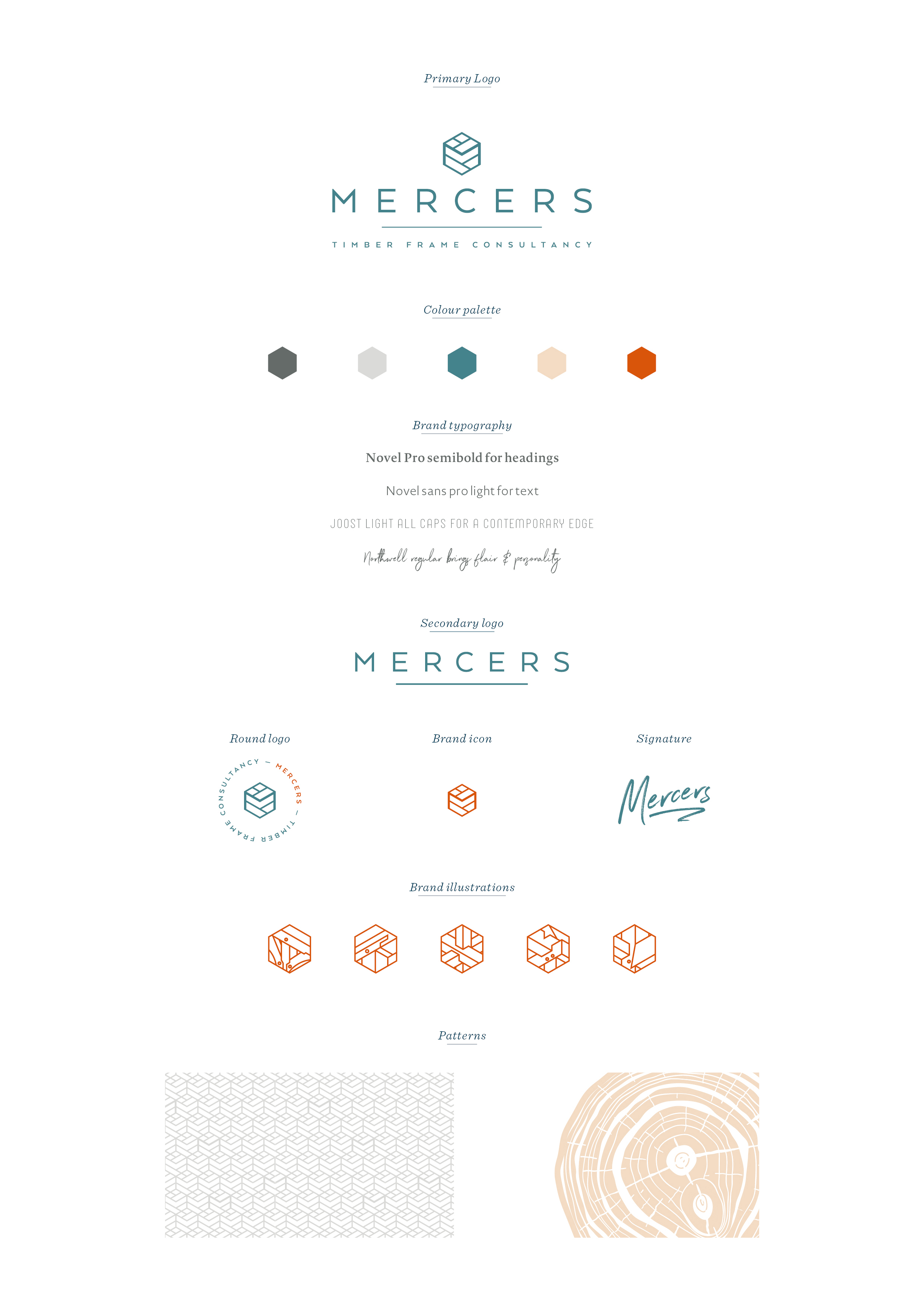 Mercers Timber Frame Consultancy, branding by Ditto Creative, boutique branding agency in Kent