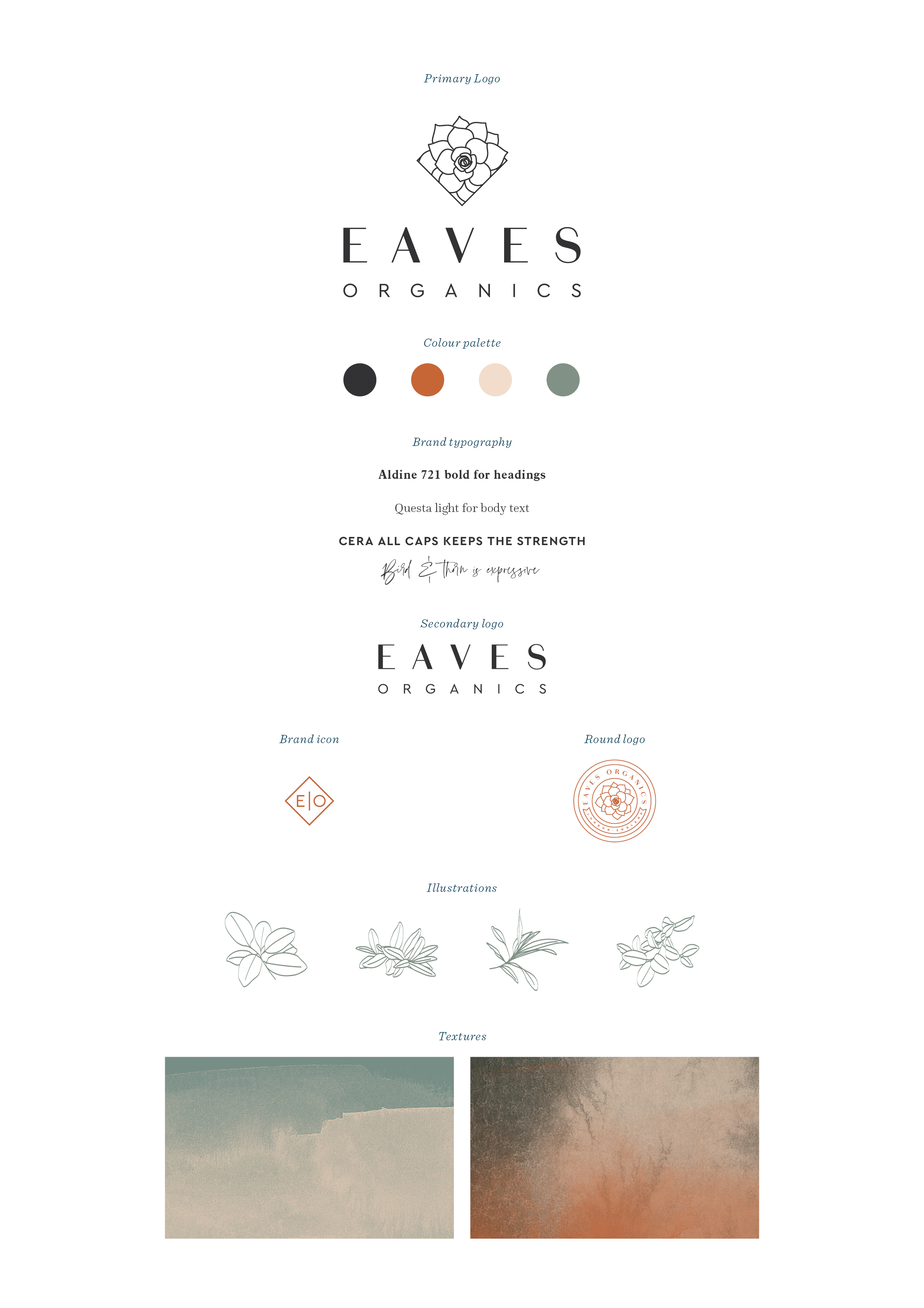 Eaves organics, branding and logo design by ditto creative, boutique branding agency in kent