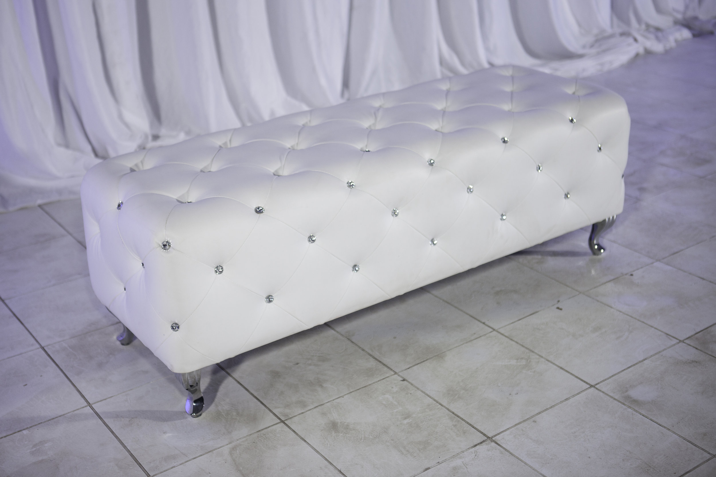 Benches- White Leather Tufted Jeweled Bench_1.jpg
