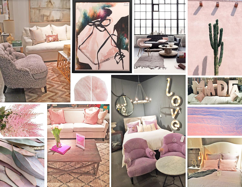 Pantone's Color of the Year 2016: Rose Quartz seen at Las Vegas Market - January 2016