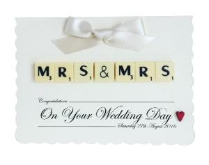 Wedding Scrabble Card