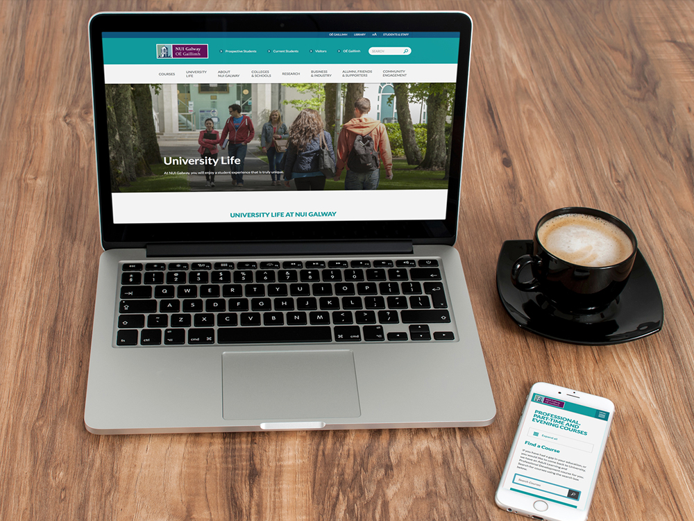 A fully responsive design allows visitors navigate content with ease on any device