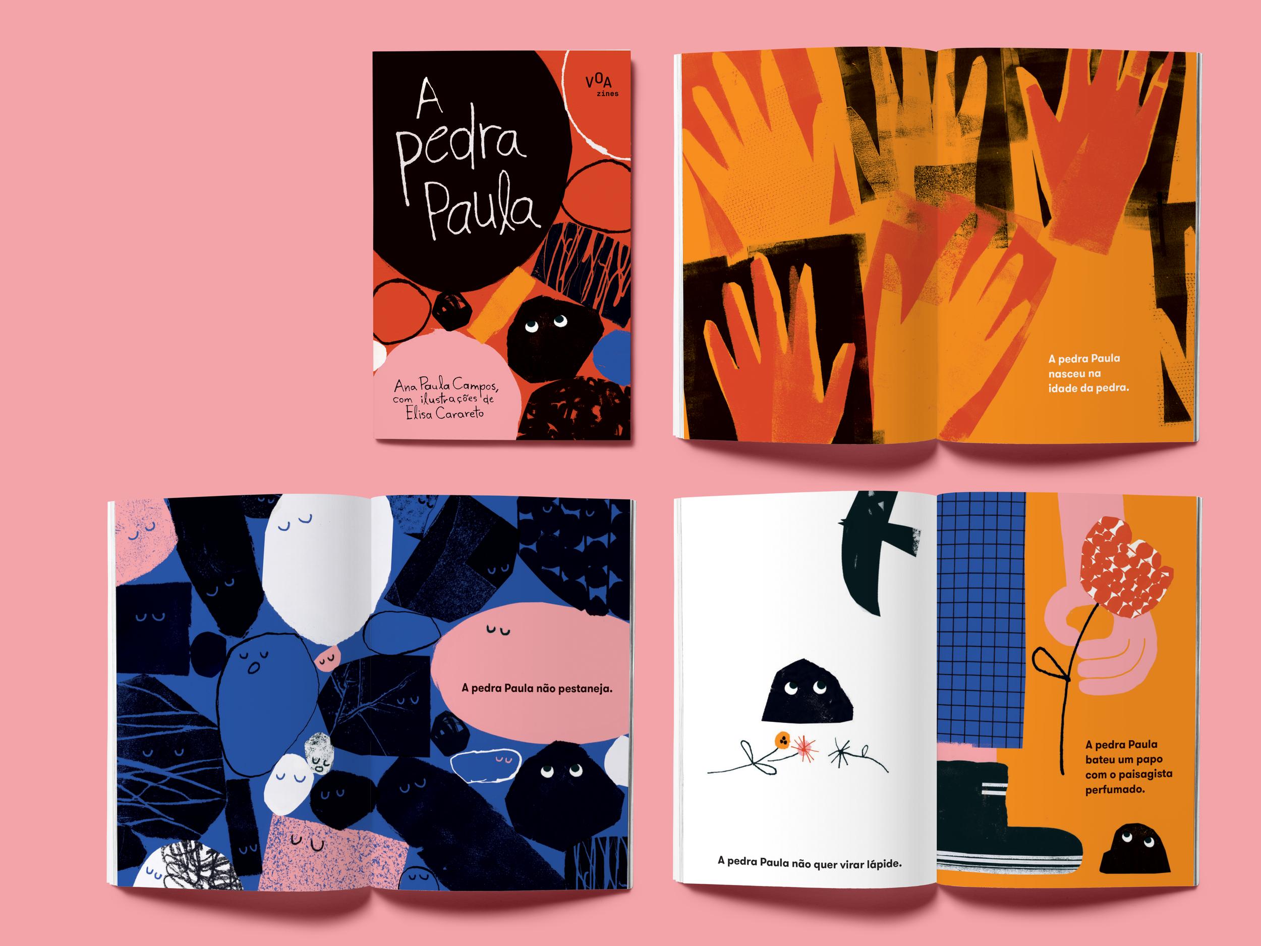 A PEDRA PAULA , a personagem durona mais amável de todos os tempos, nasceu duas vezes: quando Ana Paula Campos decidiu registrar suas facetas, e depois quando Elisa Carareto escolheu ilustrá- las. Certeza que ela vai nascer de novo quando você ler a história. Afinal, uma pedra não é só uma pedra.