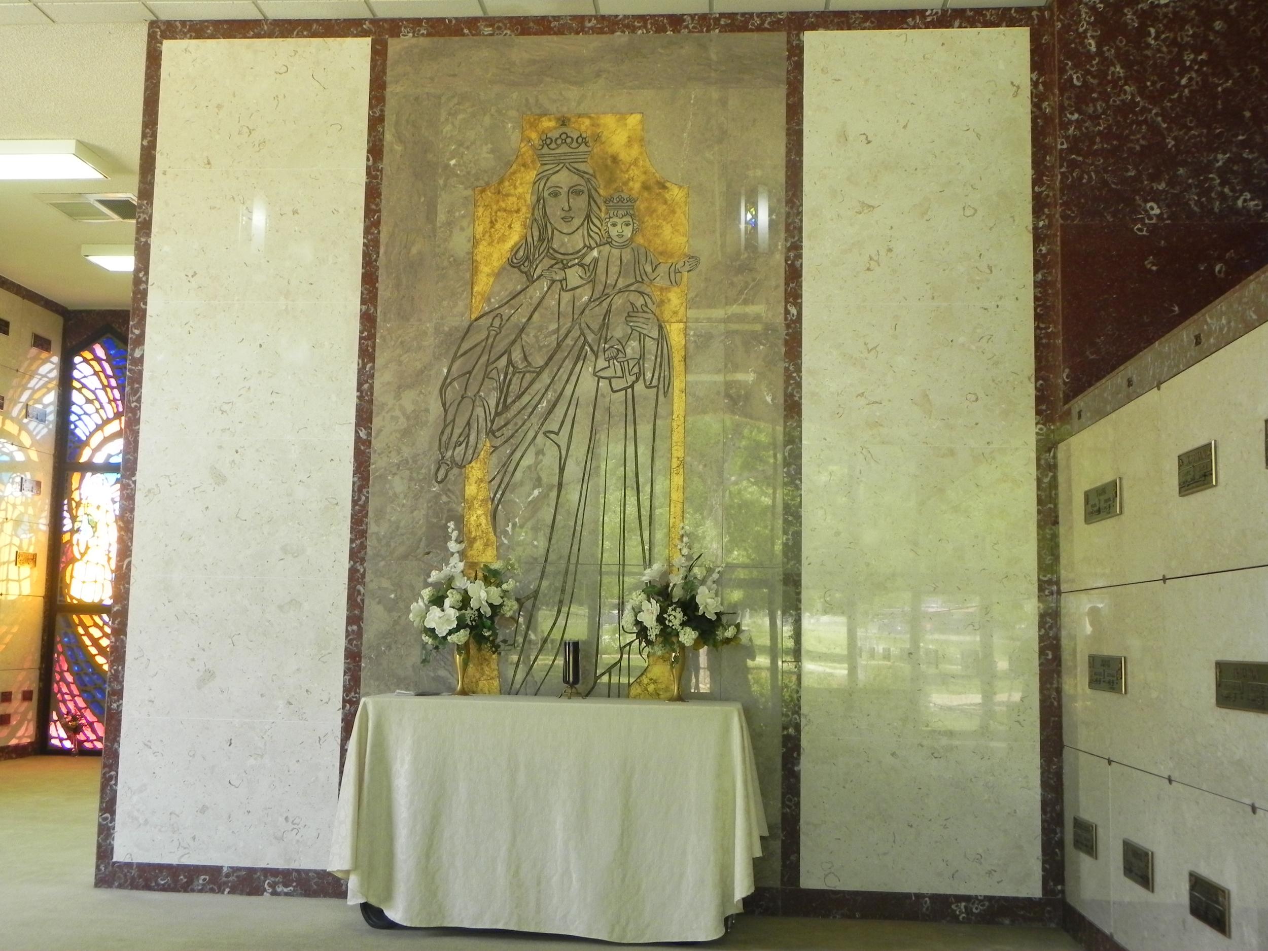 Chapel mausoleum interior