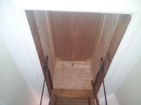 Drop Stair attic hatch finished