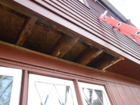 Split level homes, and homes with overhangs between the 1st and 2nd floors, usually have large holes/gaps in the air barrier of the home as the joist bays lead right into the floor cavity. These bays need to be blocked, air sealed and insulated properly in order to perform efficiently.