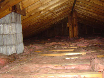 Even if fiberglass attic insulation were installed perfectly, home owners and/or workers could trample the insulation at anytime which again would devalue the insulation.