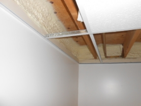 Basement Rim Joist - closed cell spray foam