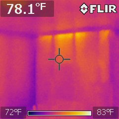 Thermal Photos - Interior Wall Top Plate
