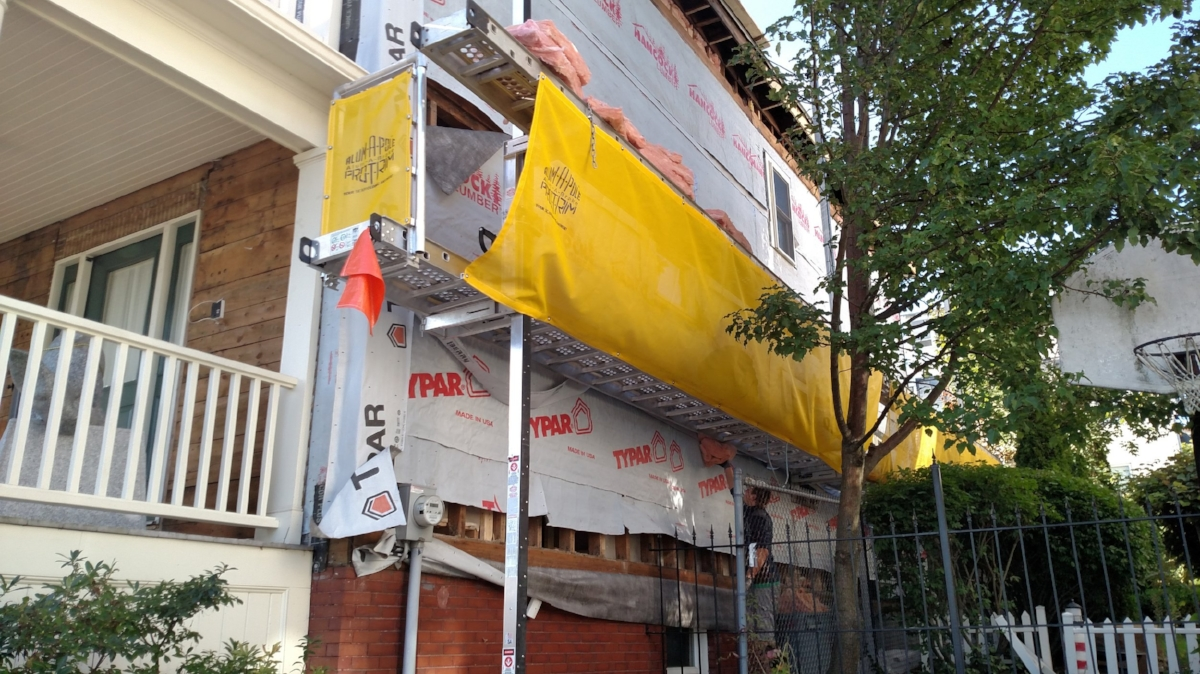 Exterior Wall - Siding Removed
