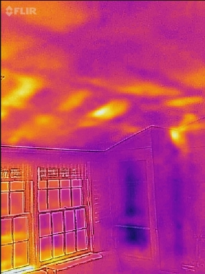 Pre Weatherization - Extensive Airflow and Devalued Insulation