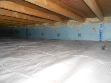 Vapor barrier and rigid board insulation