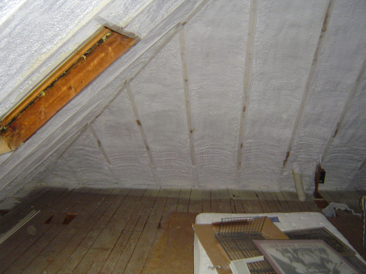 Cathedral Ceiling - Close cell spray foam