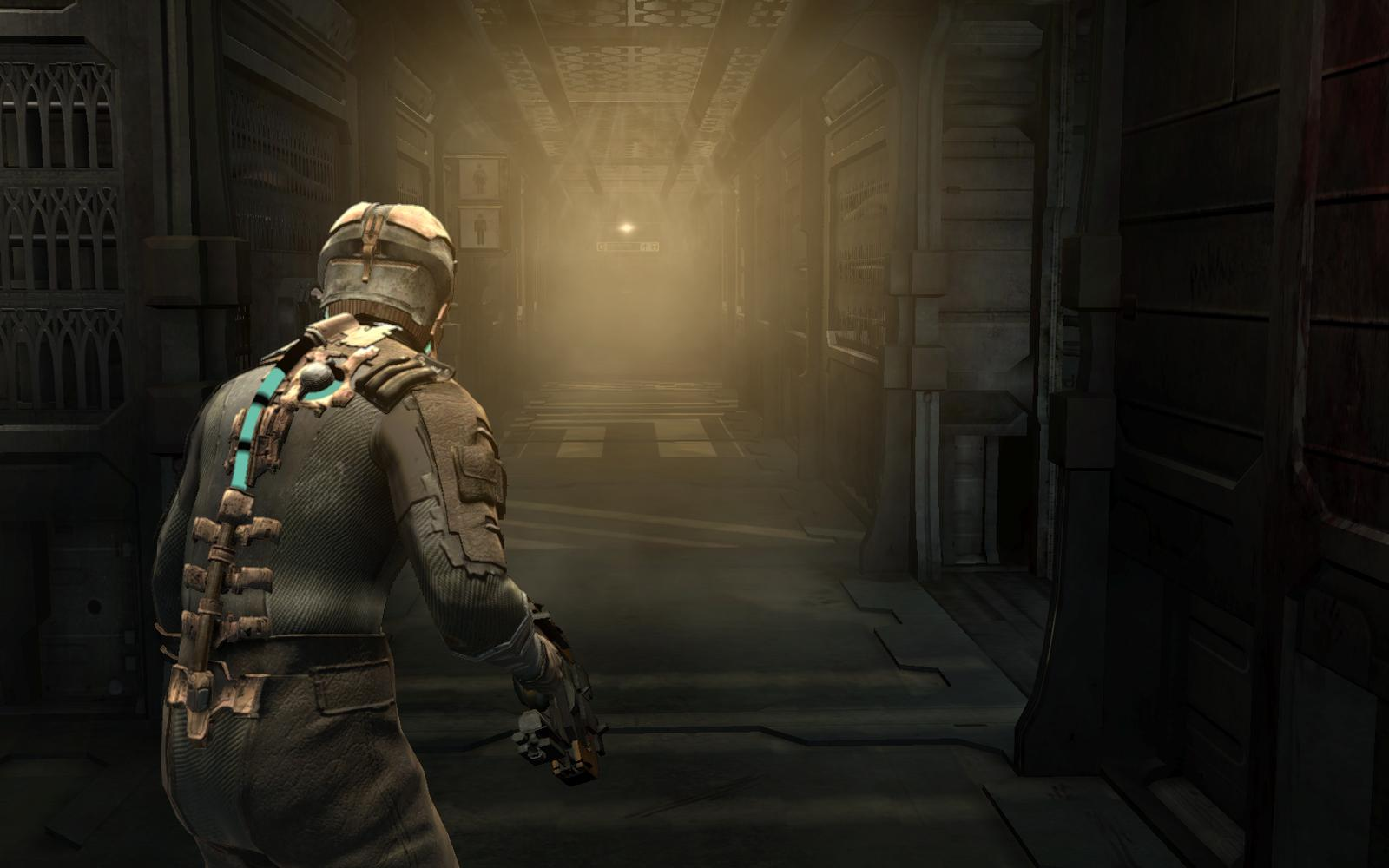 Influences - Like any game, Feral Politique is influenced by other games. Dead Space (pictured) thrived on atmospheric gameplay by eliminating the use of a traditional HUD, instead putting all pertinent information (health, ammo, etc) on the player character itself.Other games that played a role in shaping Feral Politique include Freedom Fighters for its Squad Mechanics and Resident Evil 5 for how it manages its inventory.