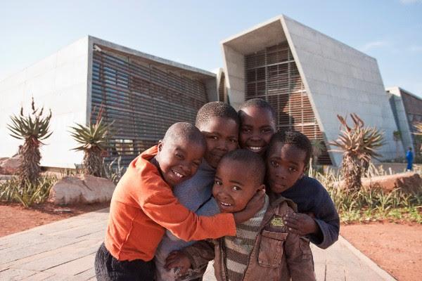Ubuntu's students gather outside the Ubuntu Centre