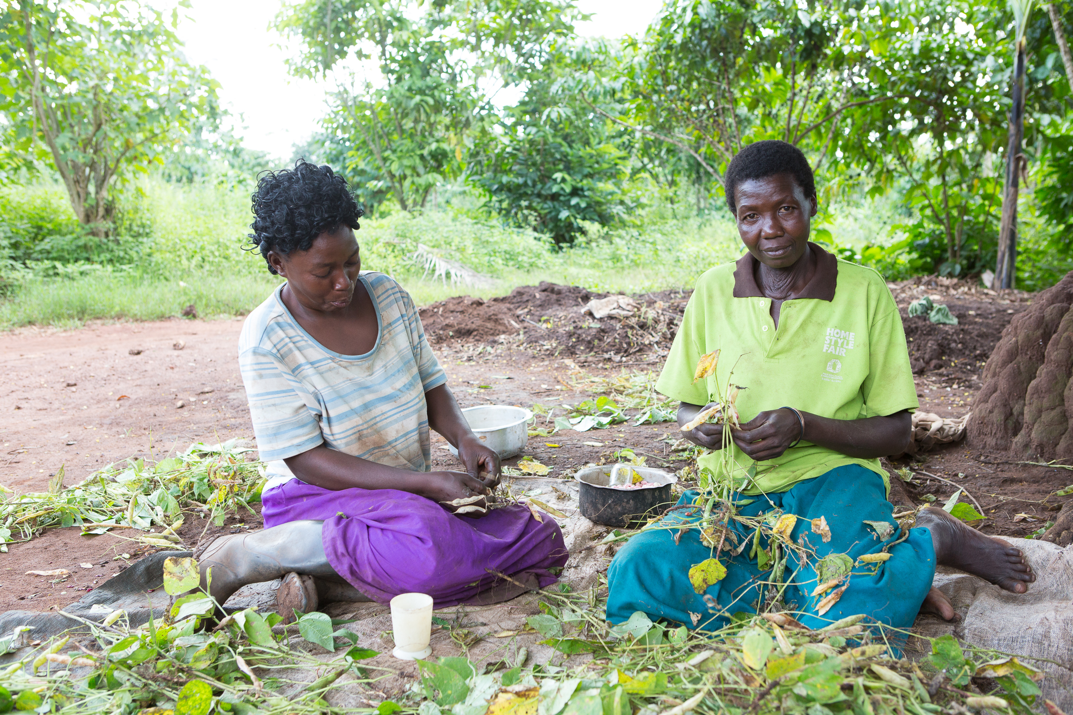 Two of Bugerere County's farmers