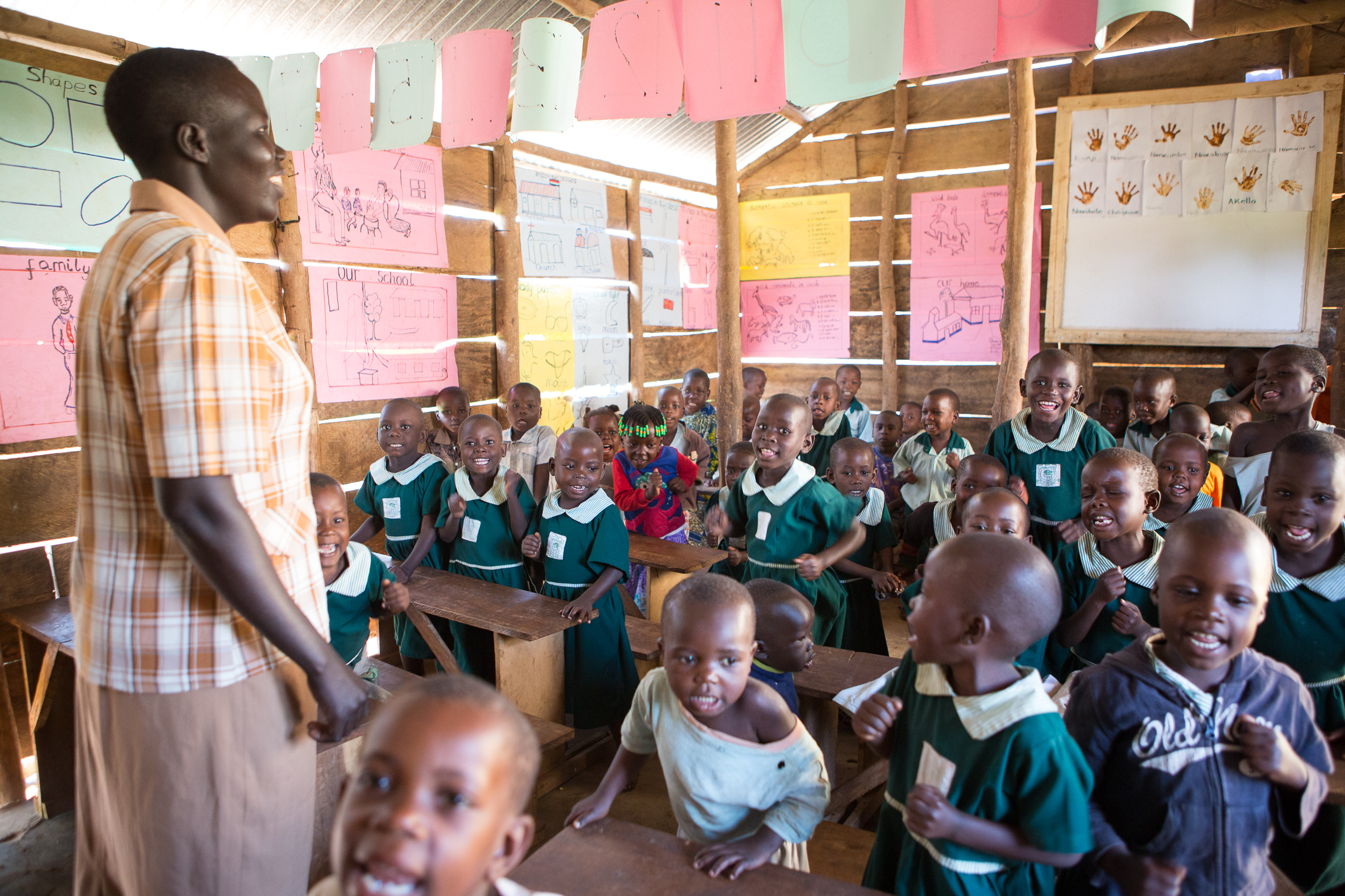 Alice Ozite teaching Kindergarten Class at St. Mark School