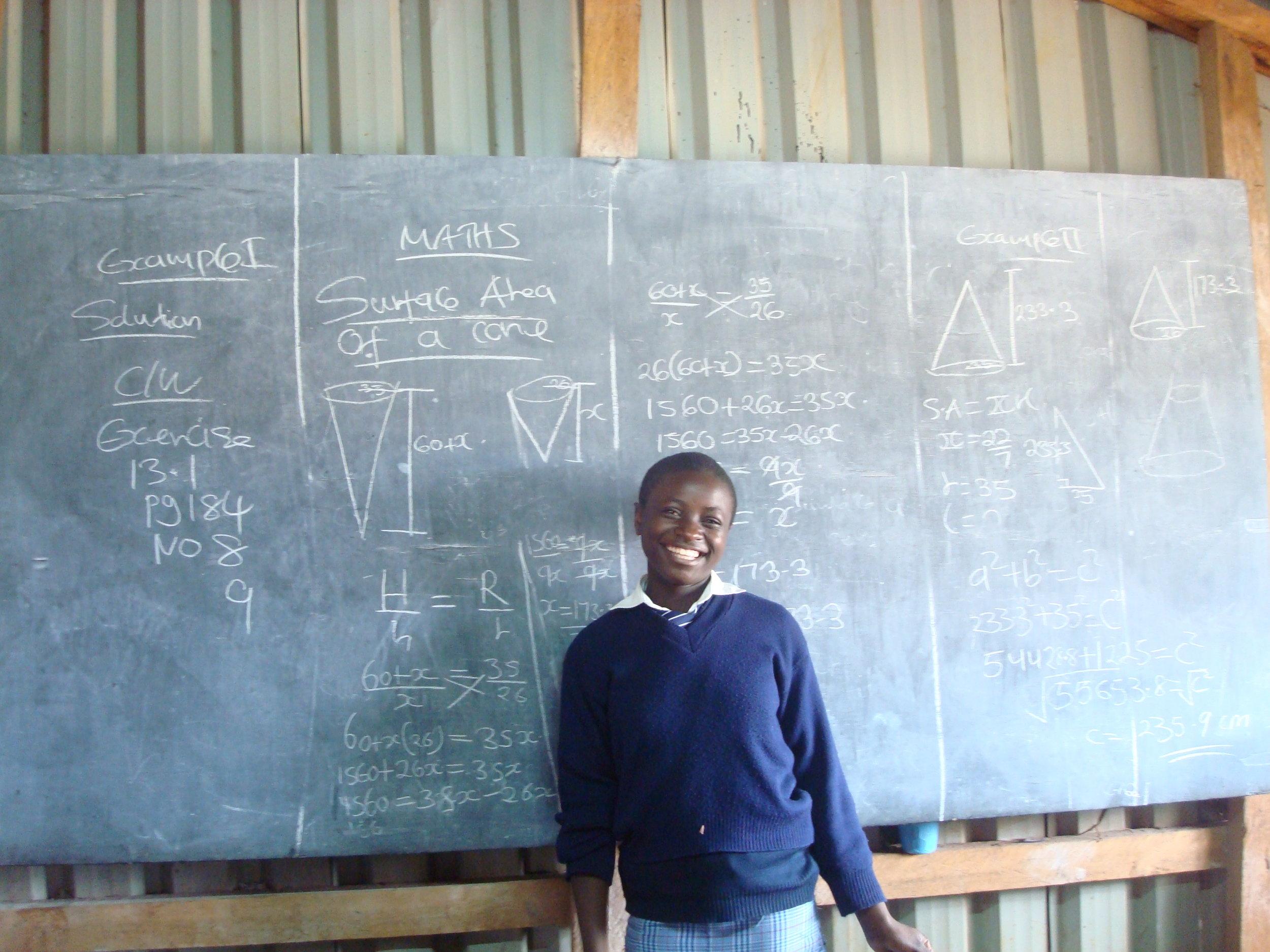 A KGSA student in math class