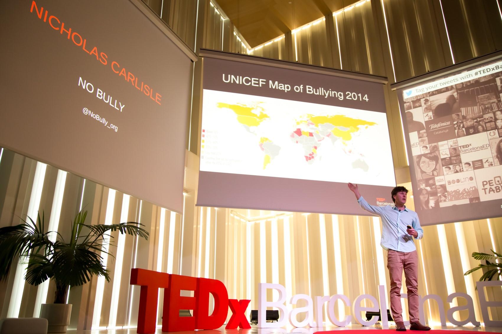 "Nicholas Carlisle at TEDx Barcelona ""Lets talk about Bullying"""