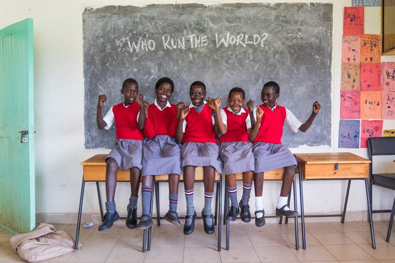Syprose, Syprose, Phoebe, Elizabeth & Sharon from Akili Girl School, Kisumu, Kenya
