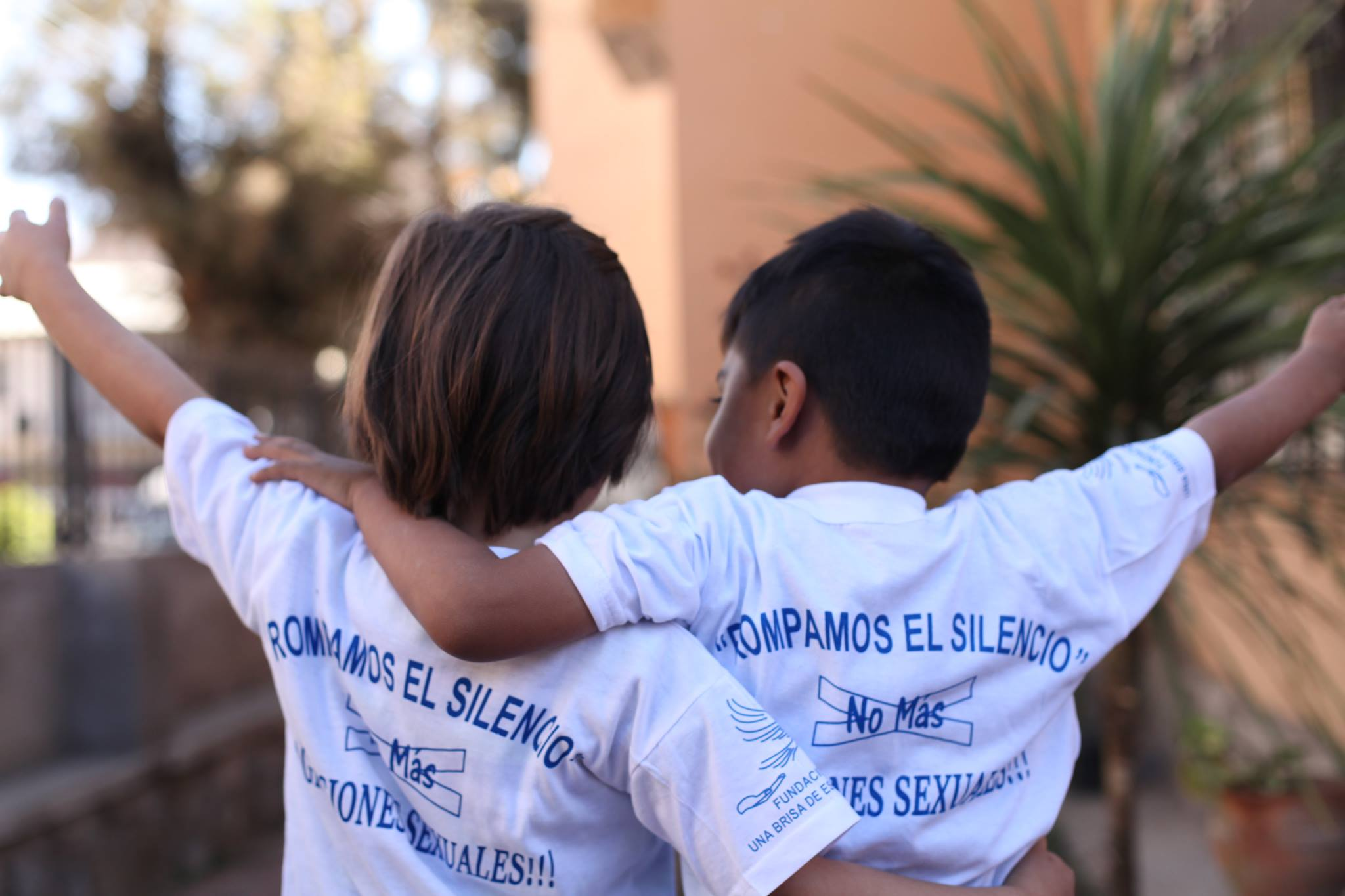 Two young children from A Breeze of Hope's center