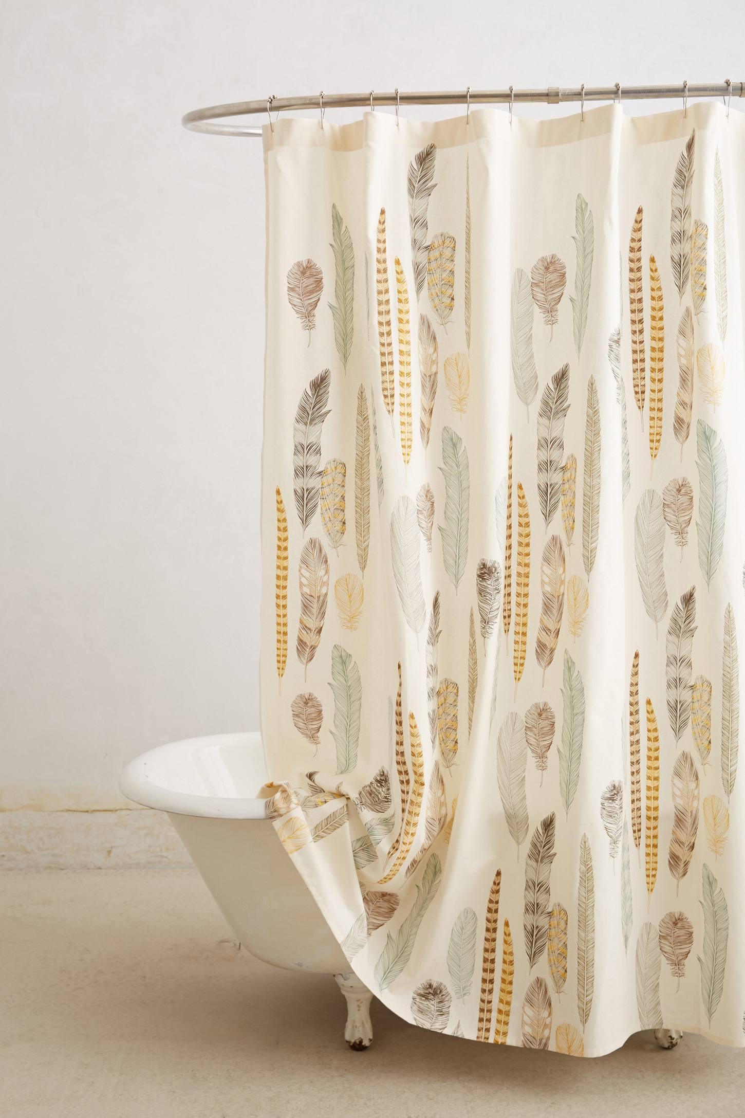 Fallen Quills Shower Curtain   from Anthropologie