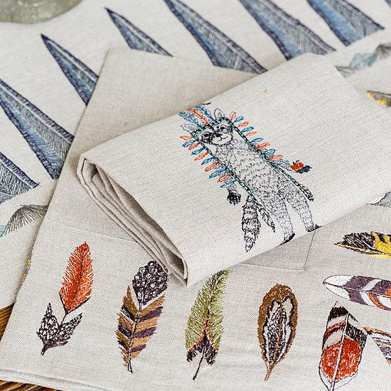 Feather decor from Coral & Tusk