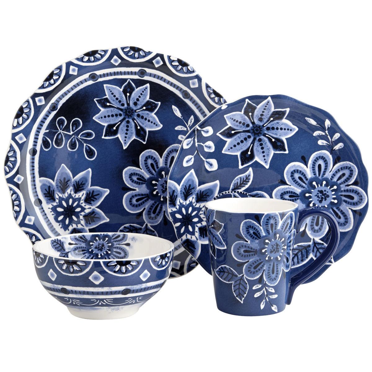 Indigo Floral Dinnerware from  Pier1