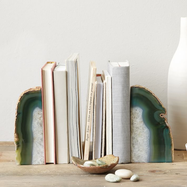 Agate Book ends from  West Elm