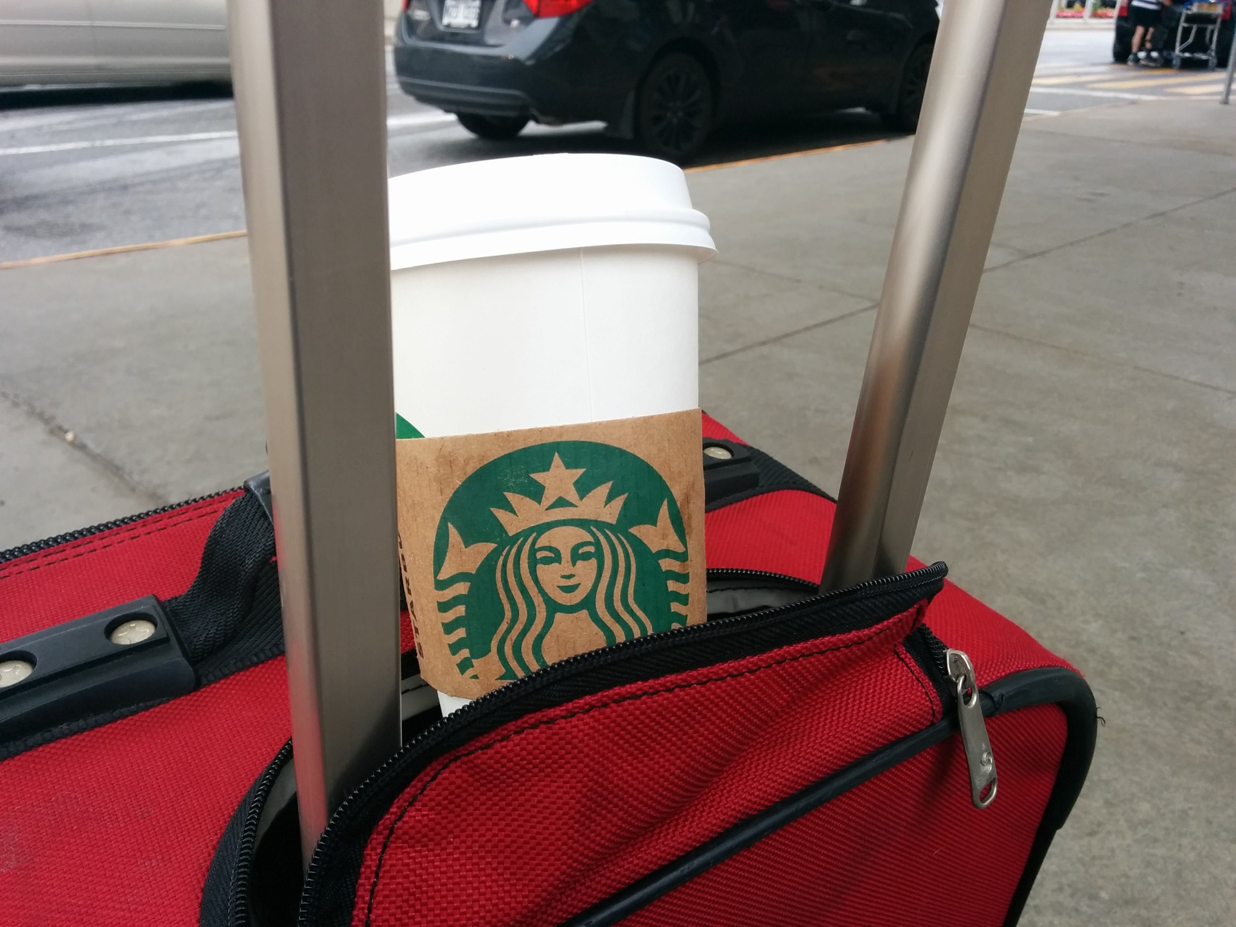The only travel accessory needed after a long night of flights. Bring on the coffee!