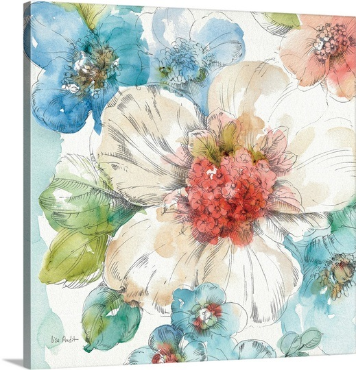 Summer Bloom III by Lisa Audit on  Great Big Canvas