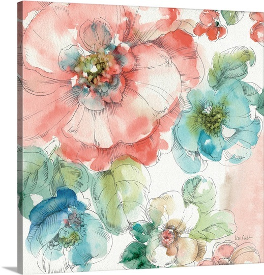 Summer Bloom II by Lisa Audit on   Great Big Canvas