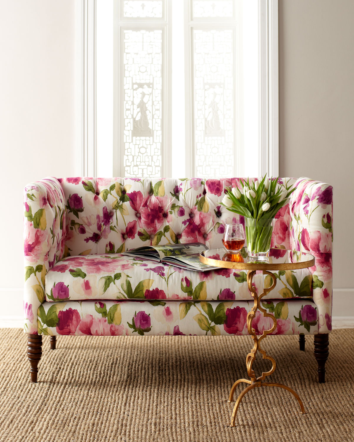 Floral Settee at  Horchow