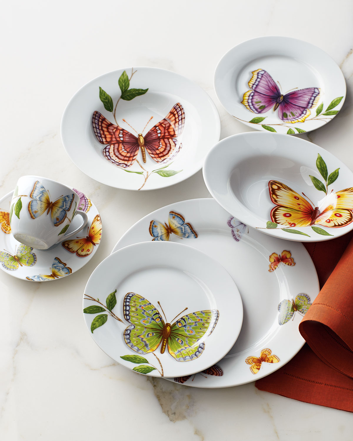 Butterfly dinner service from  Horchow