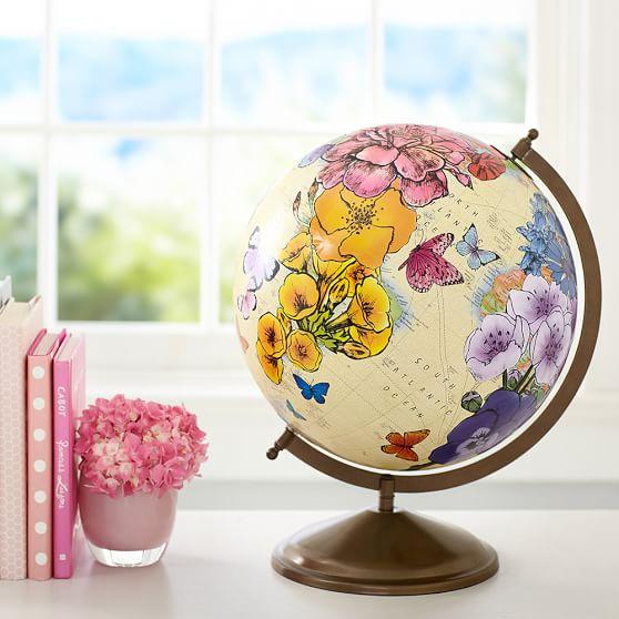 Wonderful World Globe from  PB Teen