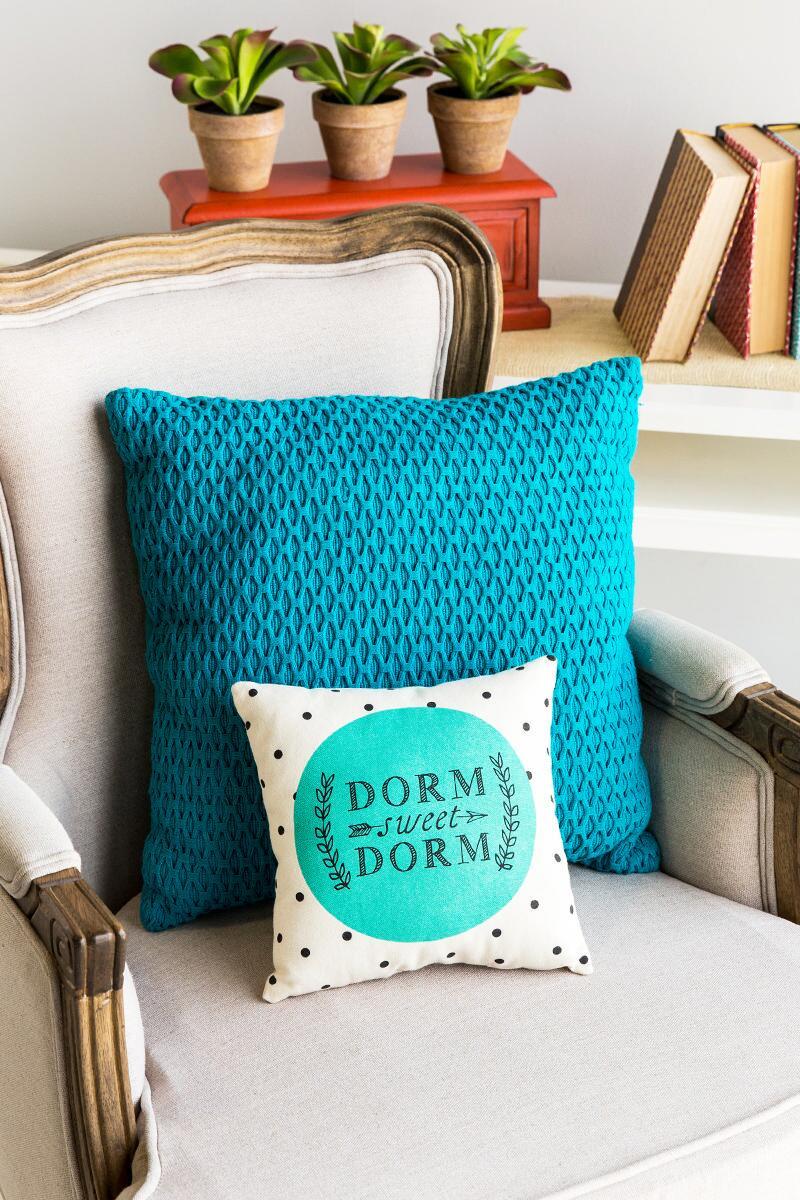 Dorm Sweet Dorm Pillow from  Francesca's